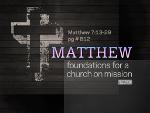 Matthew 7:13-29